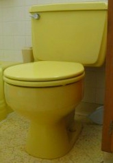 yellow toilet