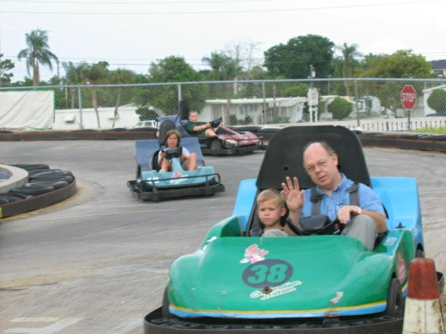 Jack & Sean in GoKarts