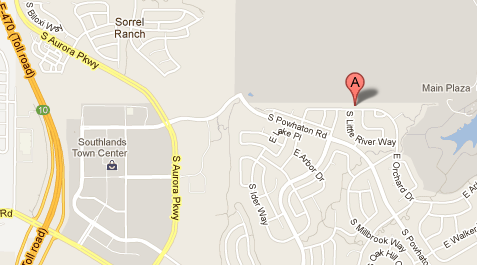 Map to 25741 E. Orchard Drive, Aurora CO  80016