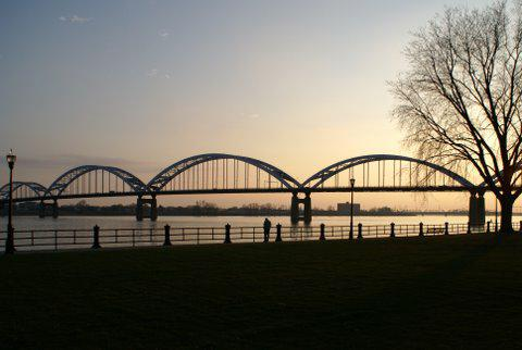 Davenport Iowa's Centennial Bridge by Lucky Lang