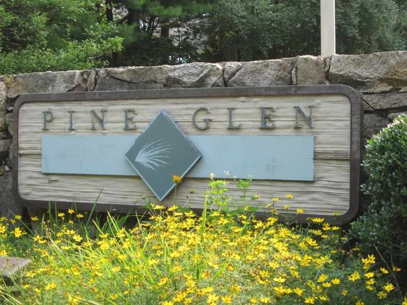 Pine Glen sign - East Greenwich RI