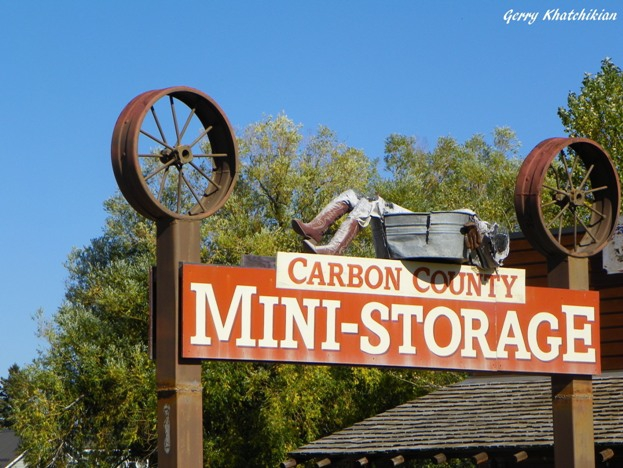 Carbon County Mini-Storage Sign in Roberts, Montana