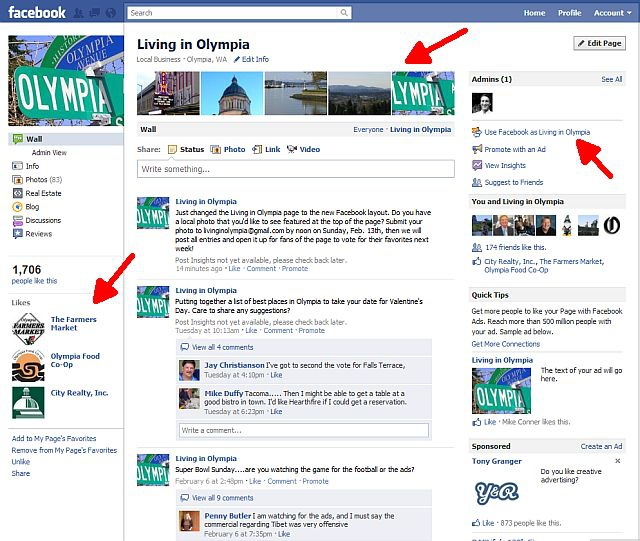 Facebook changes the look of Pages