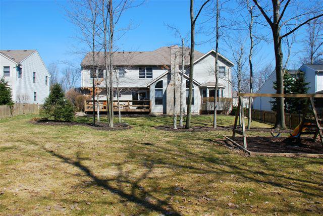 back yard 6526 Woodbury Drive solon ohio