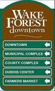 Wake Forest NC Wayfinding Signs