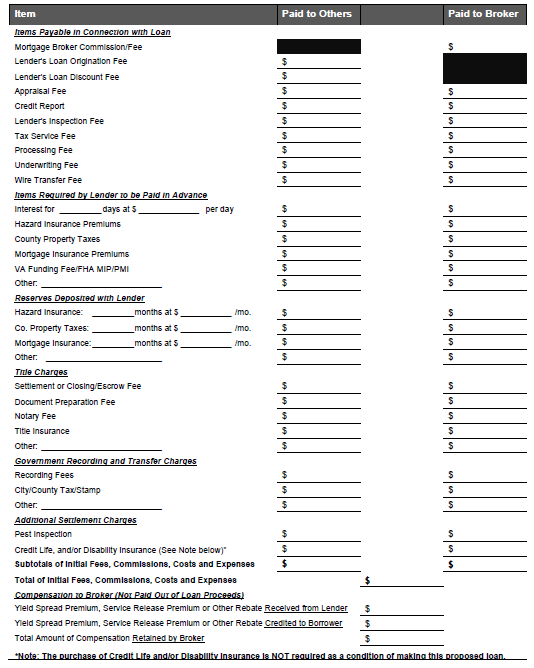 Printables Closing Cost Worksheet how are a buyers closing costs disclosed let me count the ways is three page document that not only summarizes terms and conditions of loan youve applied for but it also b