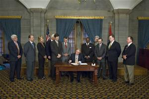 photo taken fro TNAMB site Mortgage Originator Reform bill signing