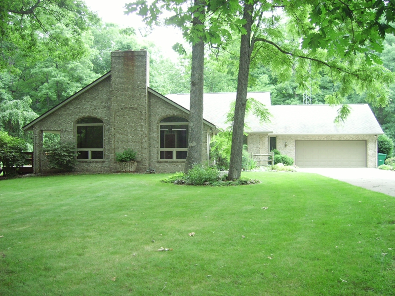 West lafayette wooded 3 bedroom brick ranch house for sale for 3 bedroom house with basement for sale