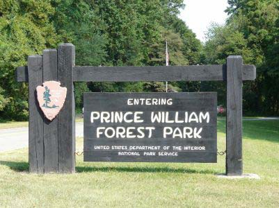 Entrance To Prince William Forest Park