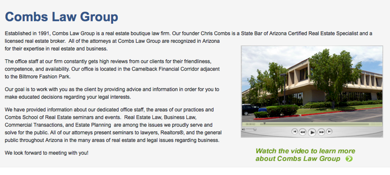 Combs Law Group, Real Estate Attorneys