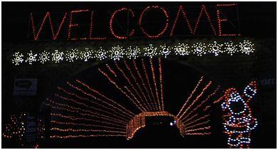 December season of celebrations sharing atlanta motor for Atlanta motor speedway light show