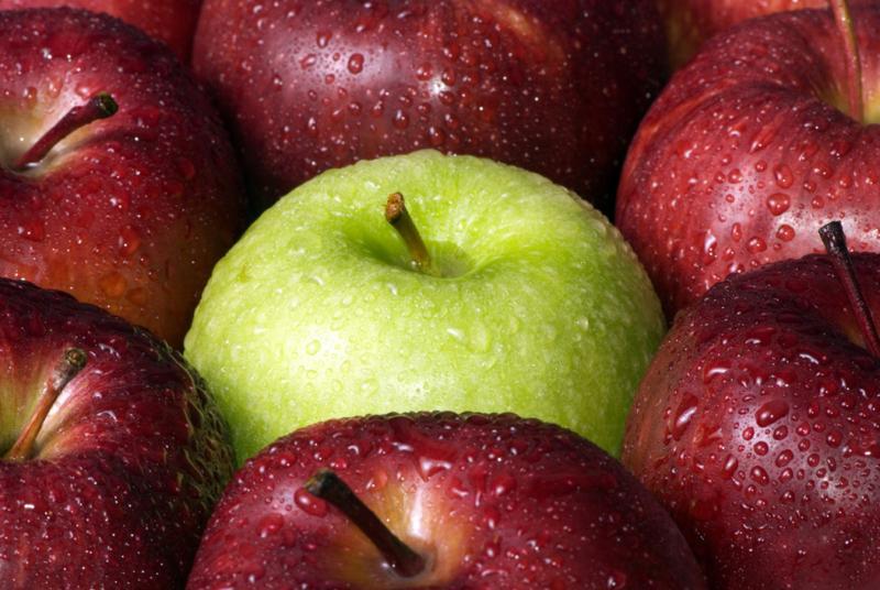 green and red apples. green and red apples d
