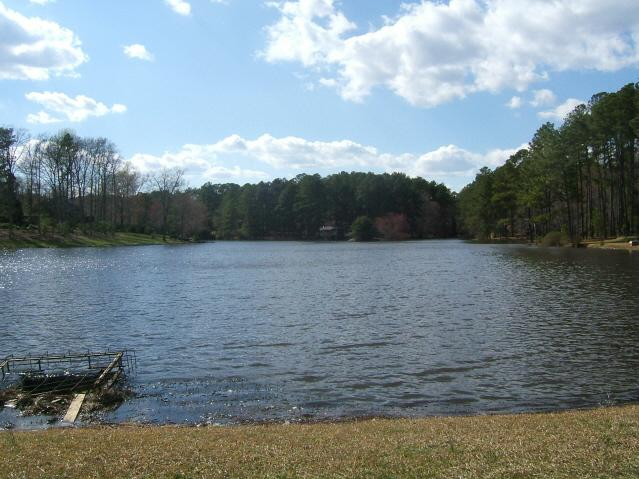 One of the 12 acre lakes in Westlake Valley Sanford, NC