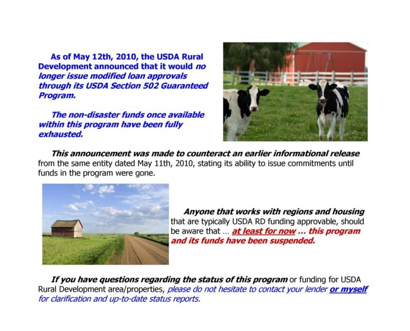 Usda rural development may 12th announcement no funds for Usda rural development arkansas