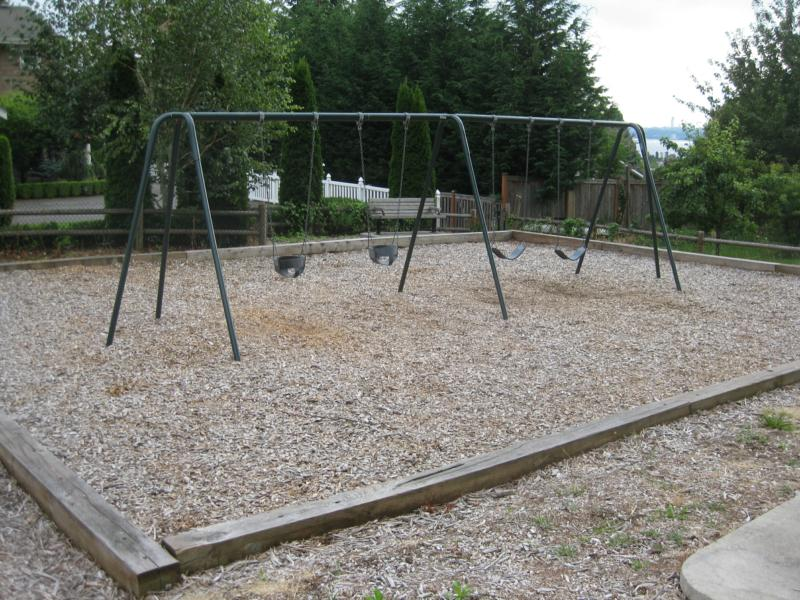 ... with two infant/ toddler swings, and two children's/ adult swings.