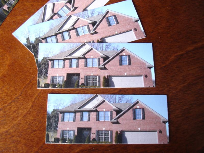 Miniature house cards