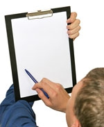 Home Inspector with Clipboard