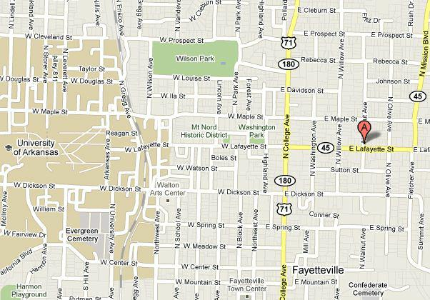 Historic District In Fayetteville Arkansas