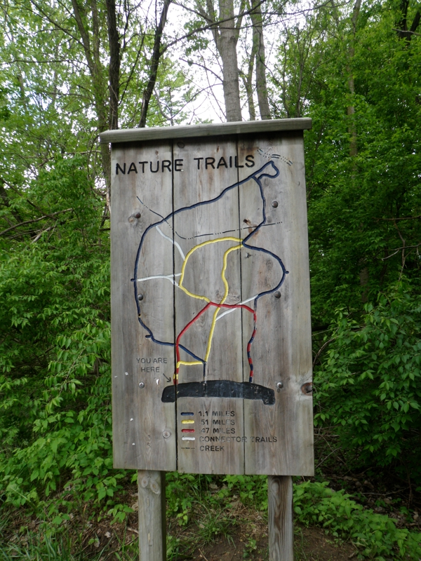 Nature Trail Sign Rotary Park Livonia Michigan