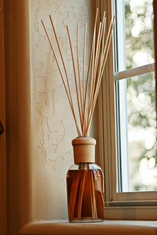 reeds on a window sill