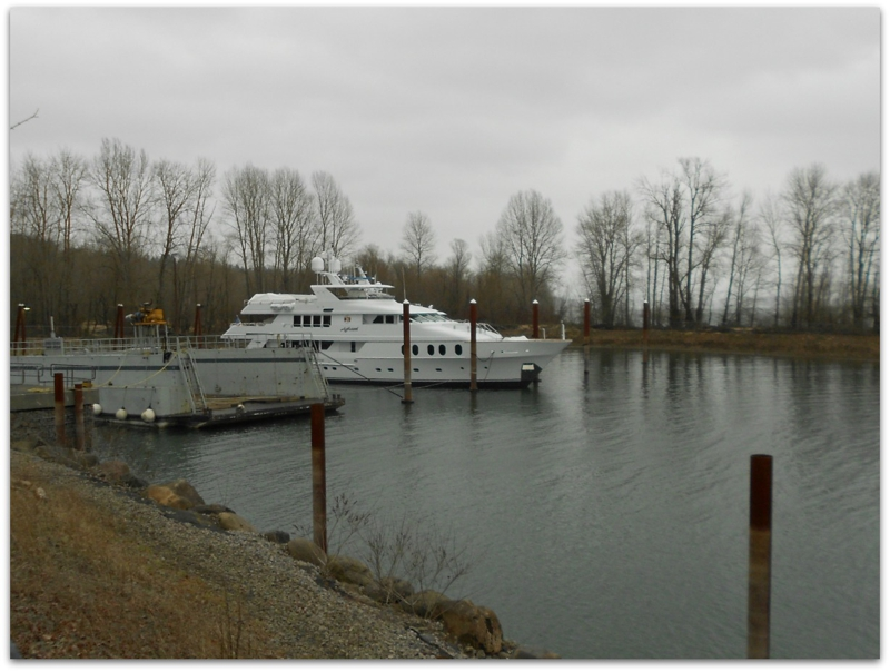 Aghassi motor yacht moored in Vancouver WA