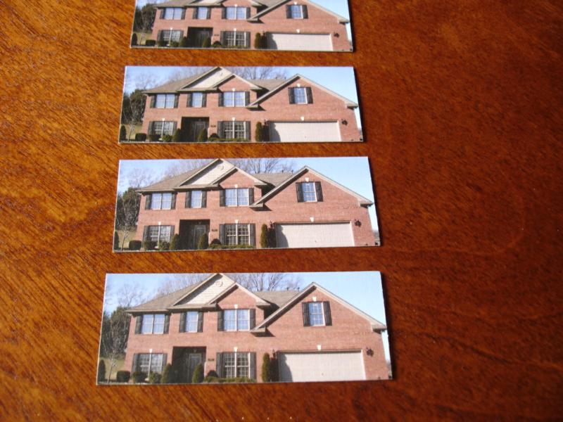 Perfect sized mini house cards to show off a home