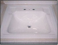 tile reglazing westchester NY - sink after