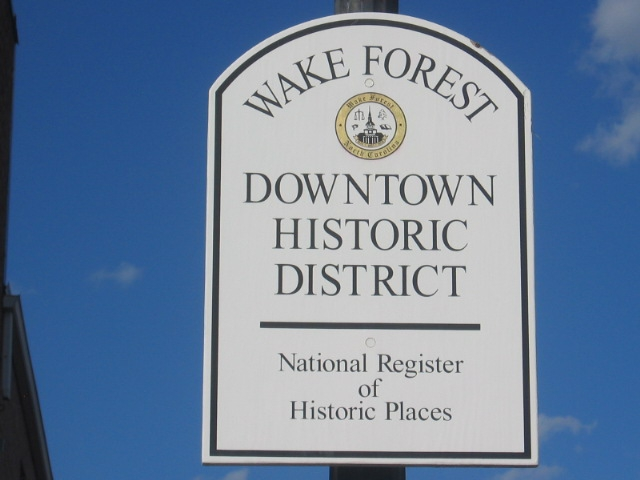 Historic Wake Forest NC