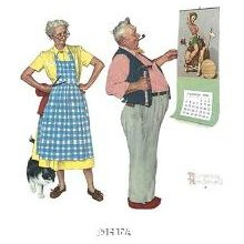 New Year Look, by Norman Rockwell