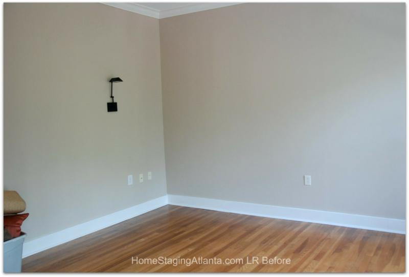 Atlanta Home Staging Before Picture Living room