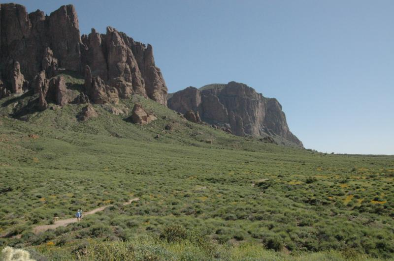 Superstition Mountain foothills