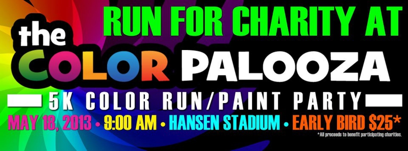 Colorpalooza 5K / Run for Charity / St George Utah / May 18, 2013