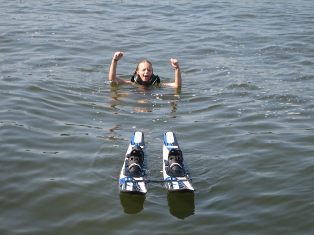 Lake Oconee Granchildren Waterskiing Success!