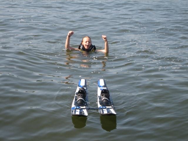 Lake Oconee Granchildren Waterskiing Success!
