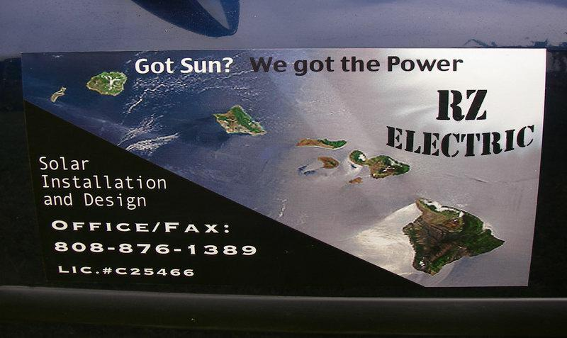 RZ Electric - Maui Hawaii - Solar Power service