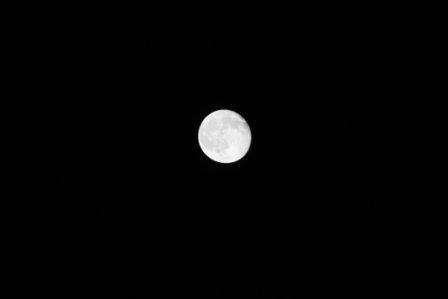 Full Moon b&w