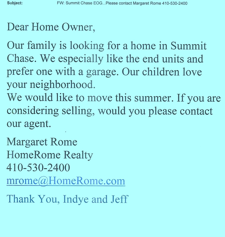 Looking for a specific home..HomeRome 410-530-2400
