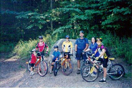 Our Family biking in Helen, GA