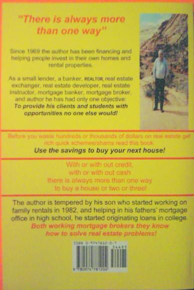 Back Cover One House At A Time