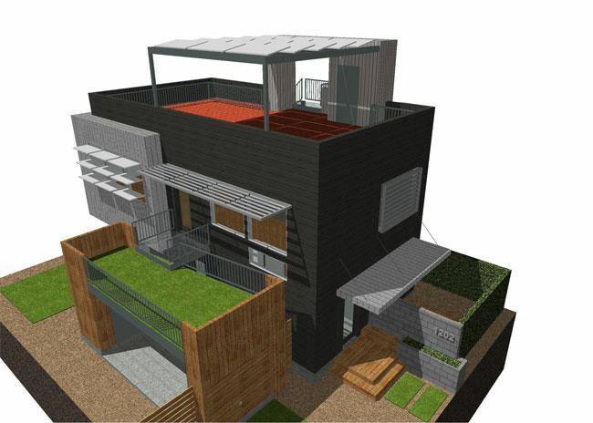 1202 singleton ave austin tx 78702 modern contemporary for Zero footprint homes