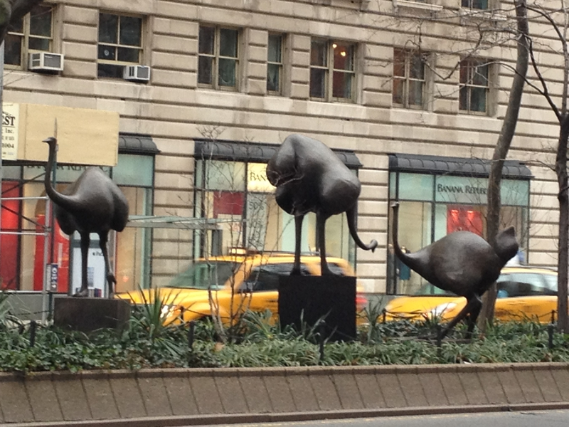 Sculptures on Broadway Mall 86th-87th Streets