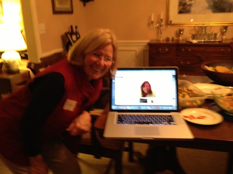 AR Google Hangout at a Meet up in Wilton CT Dec 2012