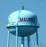 WAter tower in Maurice, Louisiana