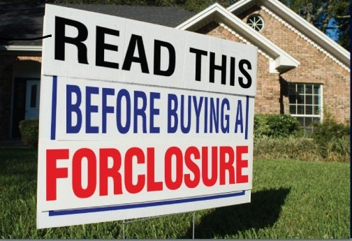 as is foreclosure sign