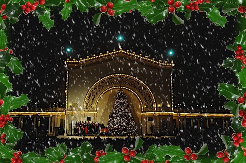 christmas events around san diego county - Balboa Park Christmas Lights