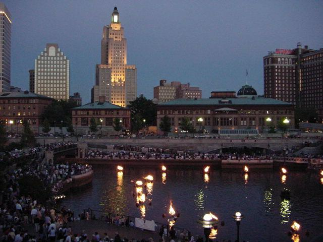 Photo of waterfire downtown Providence RI