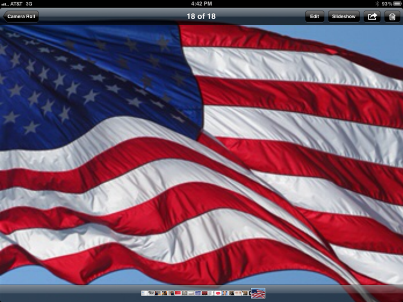 Flag on my iPad