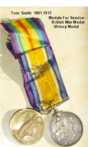 Tom Smith British War Medal and Victory Medal