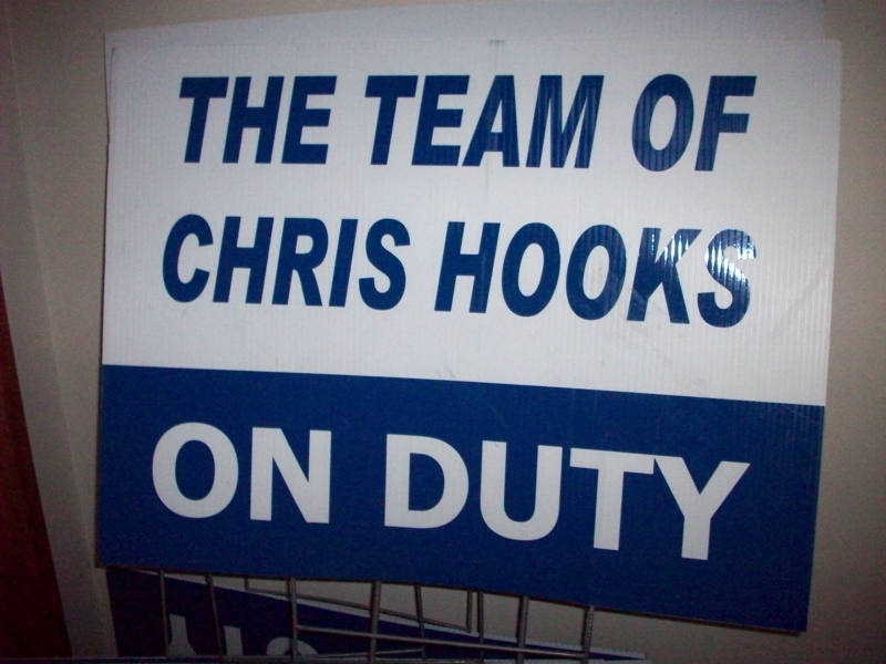 Sign for The Team of Chris Hooks