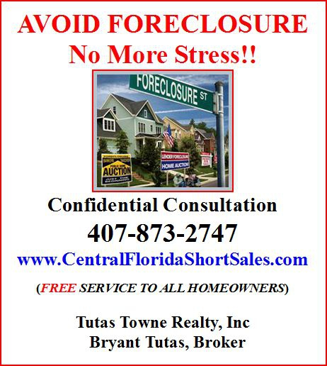 Avoid Florida Foreclosure www.CentralFloridaShortSales.com